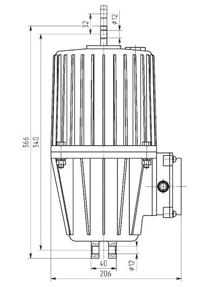 Габаритные и установочные размеры ТЭ-30