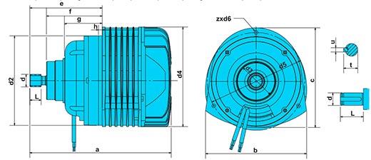 Электродвигатель КГ II 1606-12/4 габаритные размеры