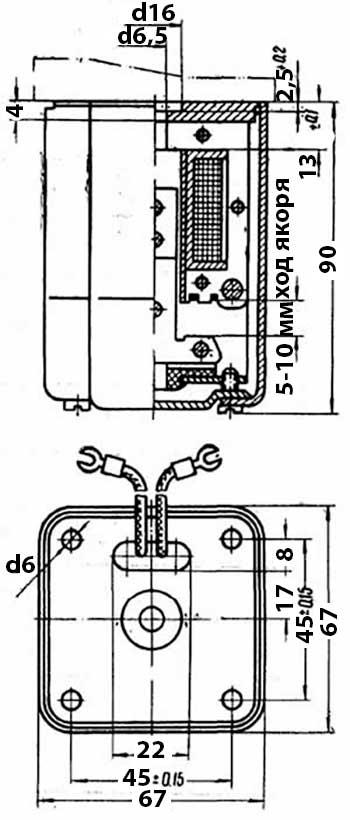 Габаритные и установочные размеры МТ 5202