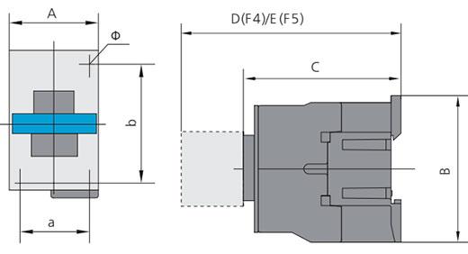 контактор NC1-32 размеры