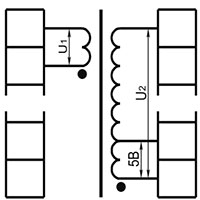 Двухобмоточный трансформатор с ответвлениями